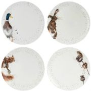 Wrendale Set of 4 Dinner Plates